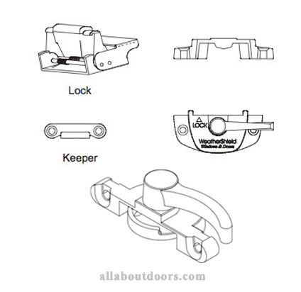 Weather Shield Double Hung Sash Locks & Keepers