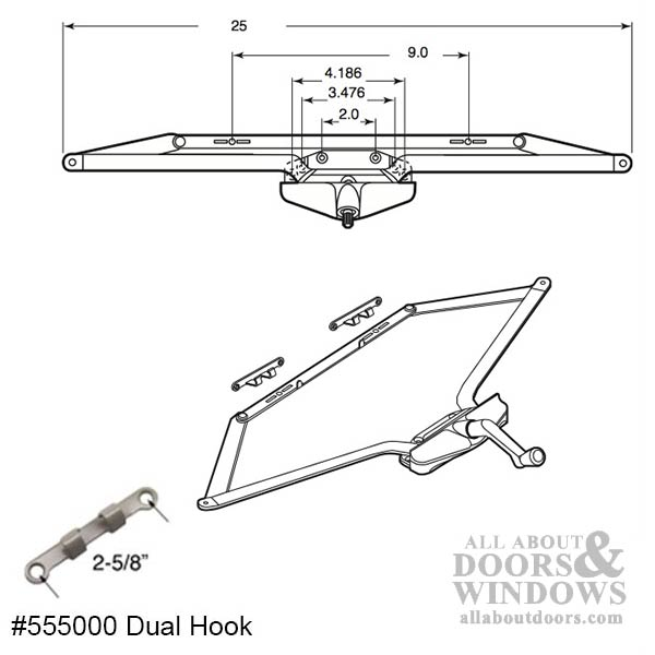 Truth Operator Roto Crank 25 Inch Dual Arm Scissor Type