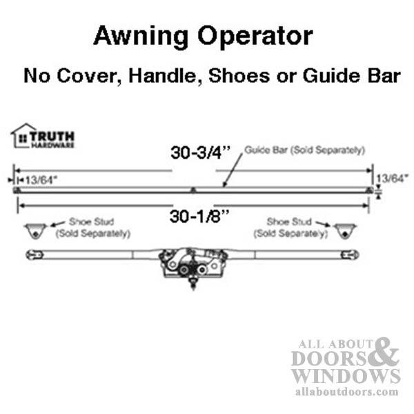28 3 4 Inch Awning Roto Crank Operator Dual Arm Entrygard