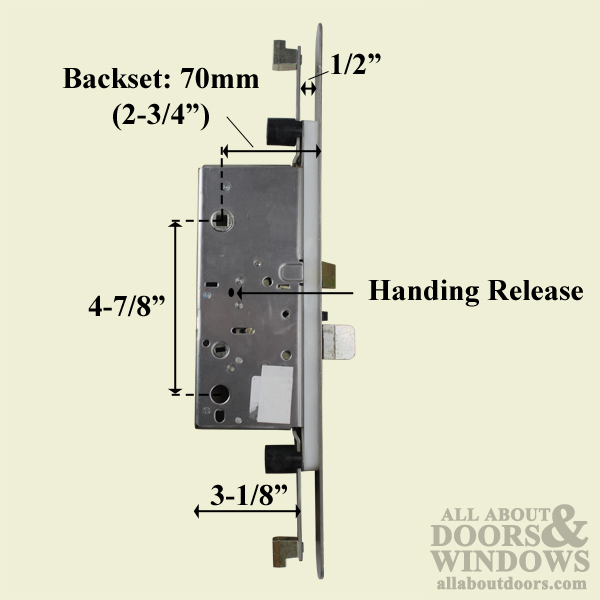 Active Concealed Multi Point Lock Rod 70 92 Radius
