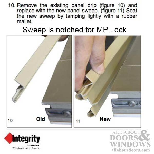 Integrity By Marvin Hinged Door Sweep V1890 Weatherstrip