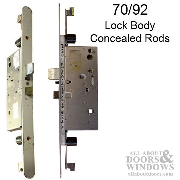 Active Concealed Multi Point Lock Rod 70 92 Radius