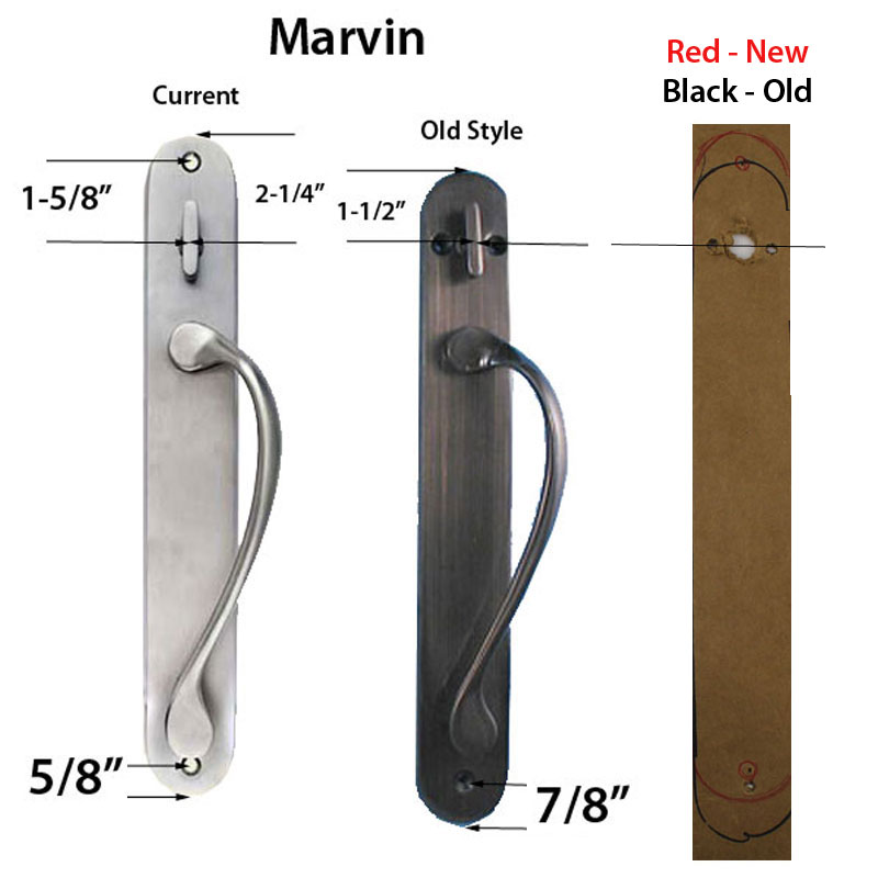 Marvin active Non-Keyed Ultimate Sliding French Door wide trim - Antique  Brass - Marvin Active Non-Keyed Ultimate Sliding French Door Wide Trim