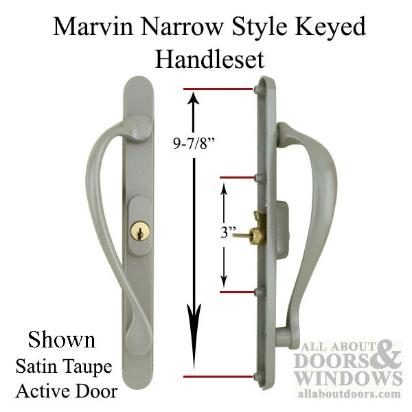 Marvin Active Keyed Narrow Sliding Door Handle Center