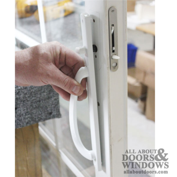 Truth Keyed Curved Top Centered Sliding Door Handles