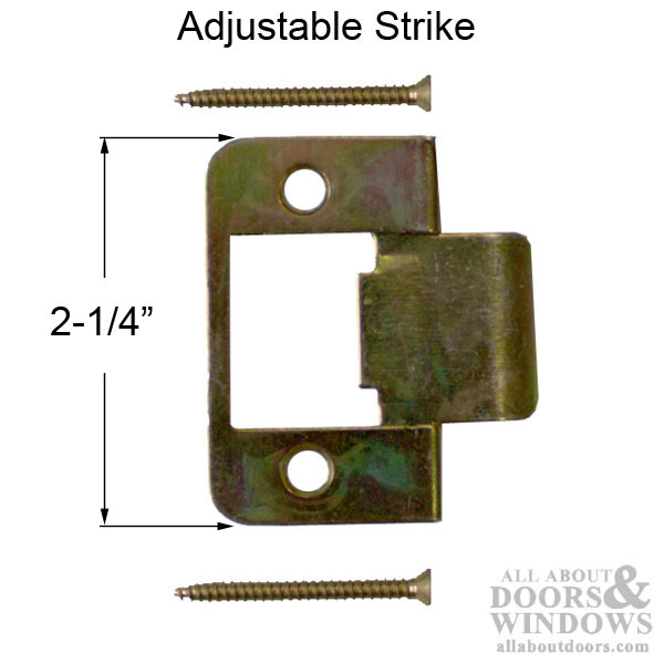 Residential Adjustable Strike Plate For Wood Steel Or