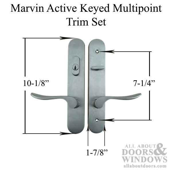 Marvin Active Keyed Handle Set Trimset Pvd Satin Nickel