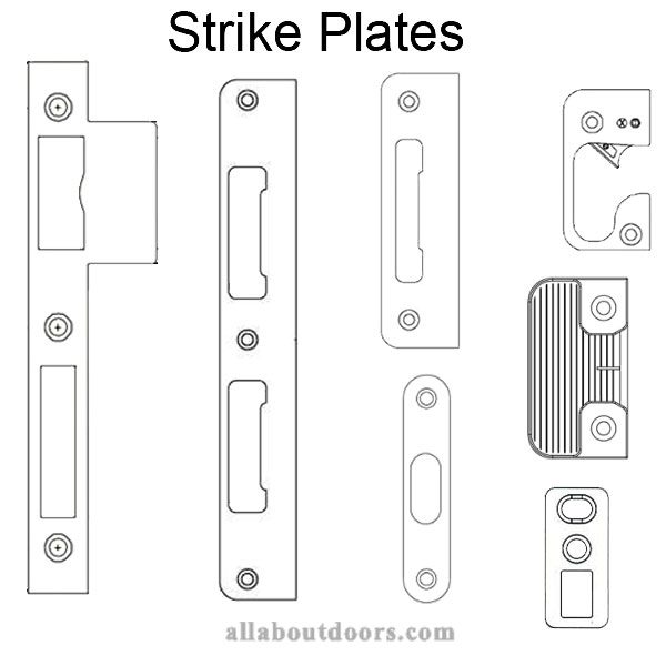 Strike Plates - Shootbolt, Roller, Hook, Tongue, Latch & Deadbolt