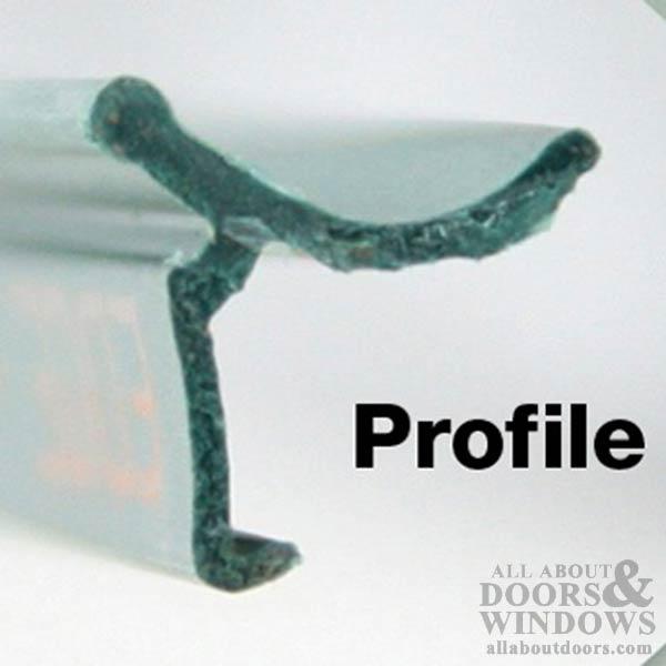 Larson Retainer Strip 1 5 8 Inch Thick Full Glass Doors