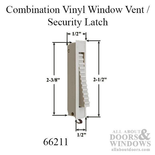 Combination Vinyl Window Vent Security Latch Choose Color