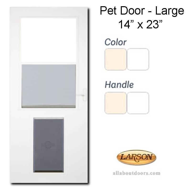 Larson built in pet door 14 x 23 flap opening storm door for 14 door