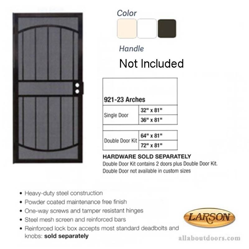 Security Door Larson Arches Steel Mesh Amp Frame