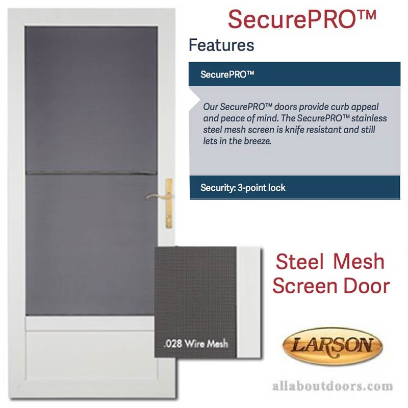 Larson Securepro Security Screen Self Storing Glass