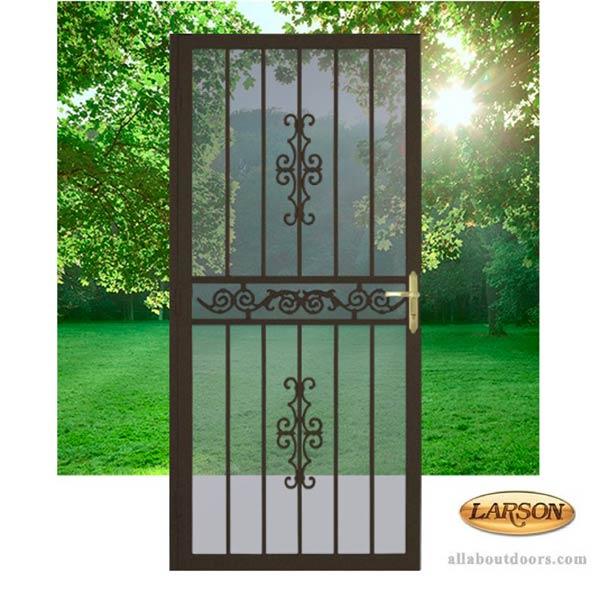 Larson Clearwater Security Door Steel Frame