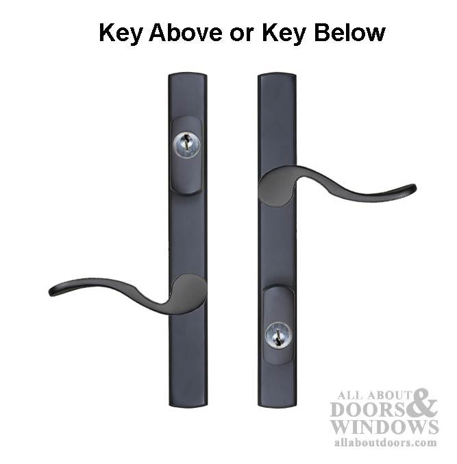 Multipoint Door Handles For Swing Door Keyed With