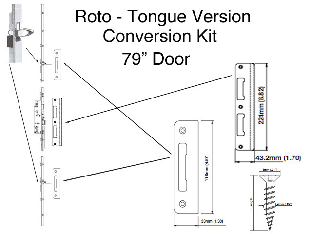 Tongue Version Replacement Kit For Discontinued Roto