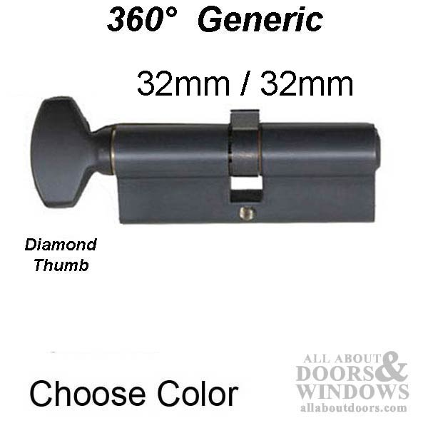 32 32 Euro Keyed Cylinder Only For 1 3 4 Inch Thick Door