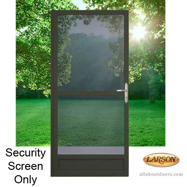 Larson Twin Screen Security Door Steel Frame
