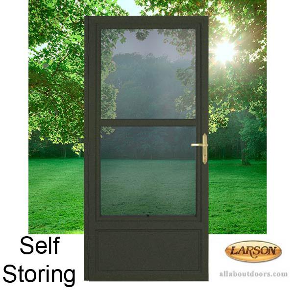 Larson Self Storing Steel Frame Door
