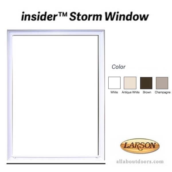 Larson Inside Interior Storm Window Clear Glass