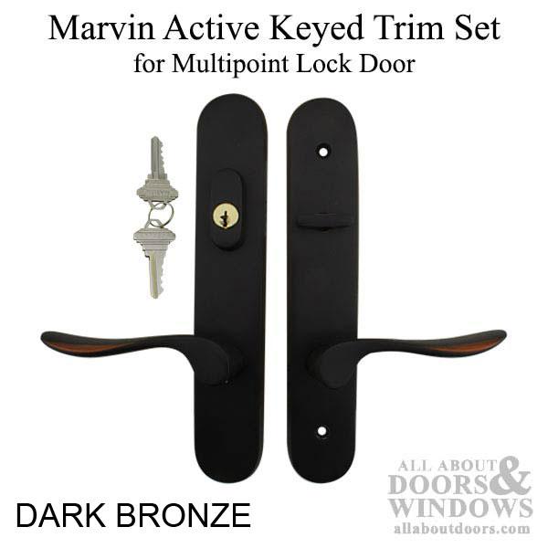 Marvin Active Keyed Hinged Door Trim Multipoint Lock