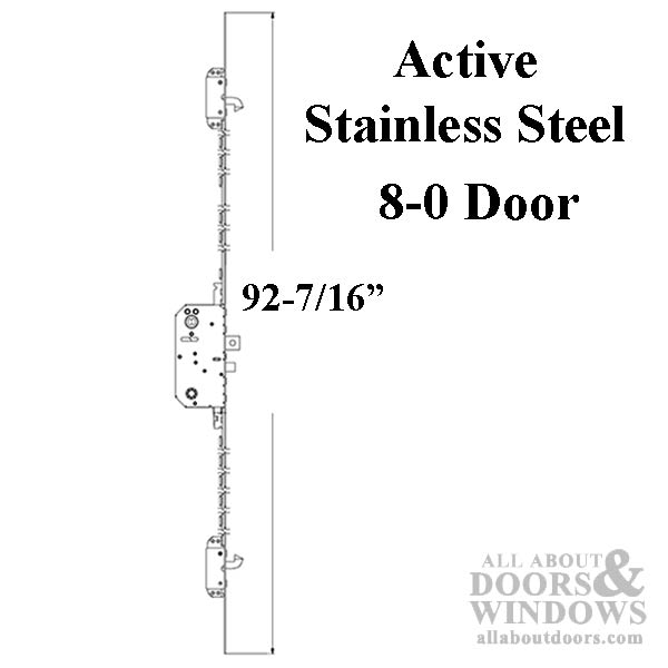 Andersen Active Multipoint Lock Fwh80 Door Stainless Steel