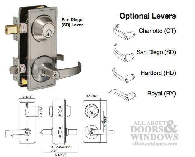 Interconnected Lock 4 Quot Centers Grade 2 Keyed Lever