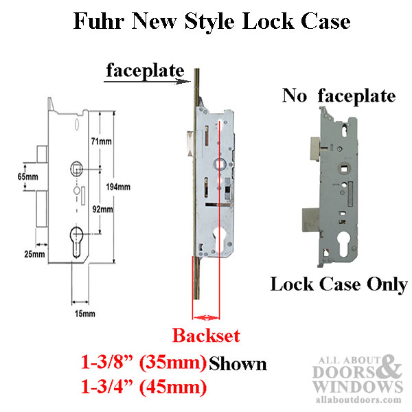 Fuhr New Style Lock Case 45 92 Multipoint Or Single Point