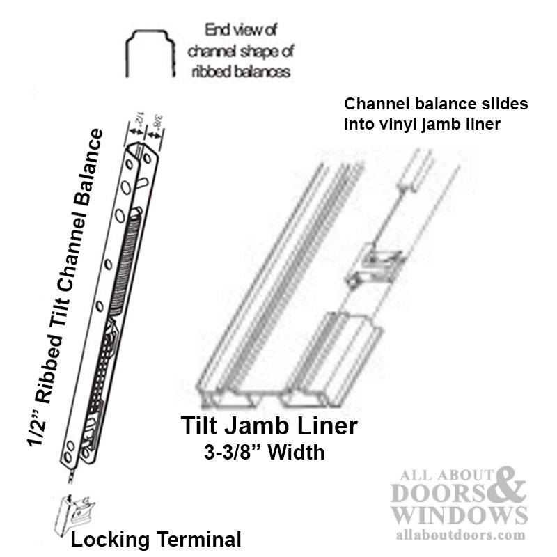 1 2 Quot Ribbed Channel Balance For Vinyl Jambliners 02 End