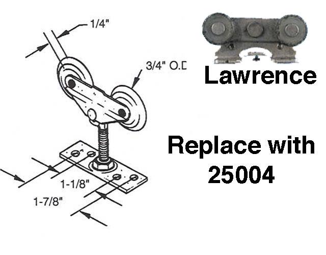 Lawrence Sliding Pocket Door Roller 3 4 Nylon Wheel See
