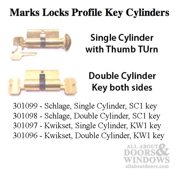 Marks Handle Set And Lock For Storm And Security Doors
