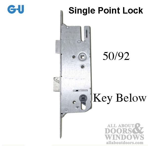 G U Monolock 50 92 Single Door Lock Key Below Stainless
