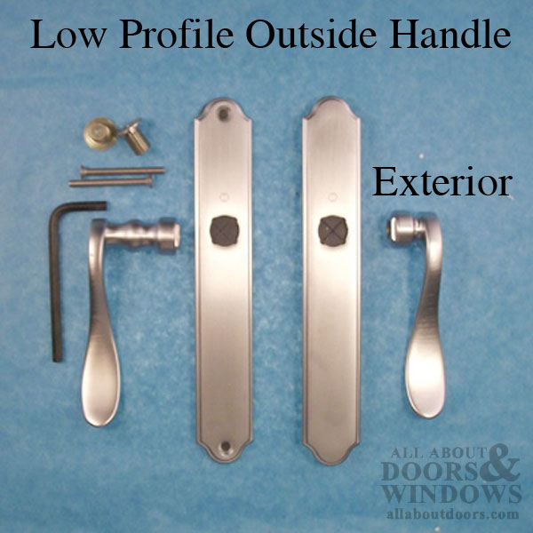 Hoppe Fixed Dummy Low Profile Lever Set Pair Right Hand Brushed Chrome
