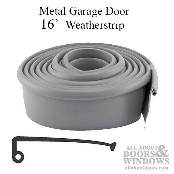 Weatherstrip metal door 16 foot for 16 foot garage door springs