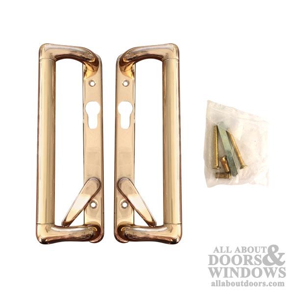 Champion Cologne Active Patio Door Handleset Euro Cylinder Brass