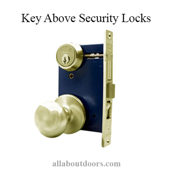 Marks Key Above Security Doors Locks