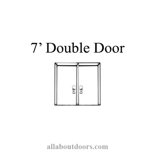 7' Double French Doors Multipoint Lock Kit