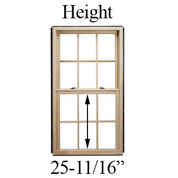 "25-11/16"" Unobstructed Glass Height"