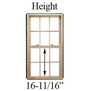 "16-11/16"" Unobstructed Glass Height"