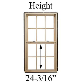 "24-3/16"" Unobstructed Glass Height"