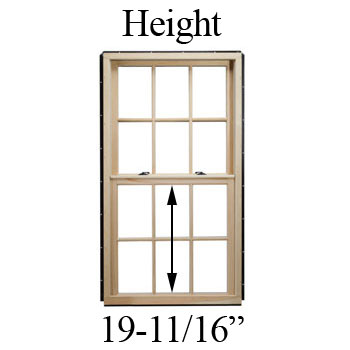 "19-11/16"" Unobstructed Glass Height"