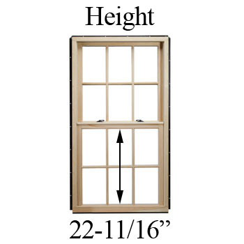 "22-11/16"" Unobstructed Glass Height"