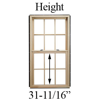 "31-11/16"" Unobstructed Glass Height"
