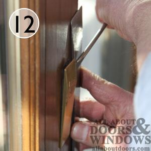 How To Install Andersen Gliding Door Handleset And Lock