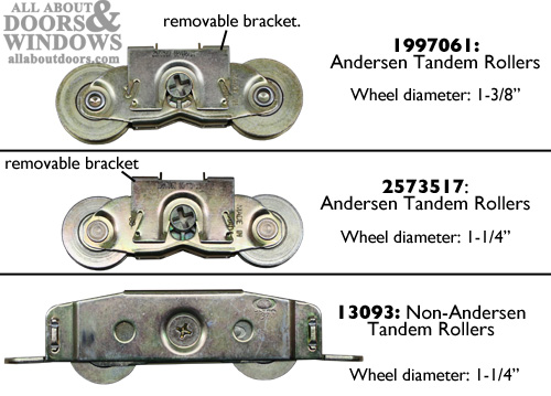 Steps To Removing And Installing Rollers In Andersen Gliding Doors