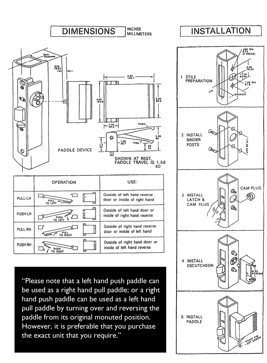 How To Install Commercial Push Pull Lever Handle