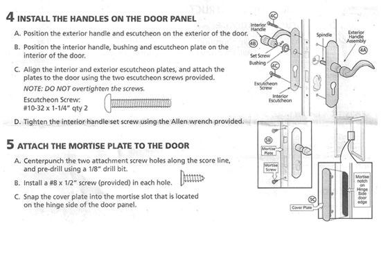 Pella Installation Instructions For Mortised Hardware