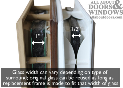 Glass thickness insert sidelite