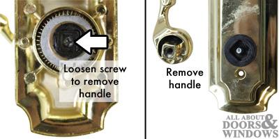 Remove Handle Patio Door