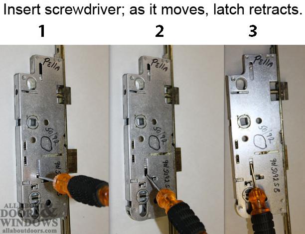 Fix Pella Door Lock